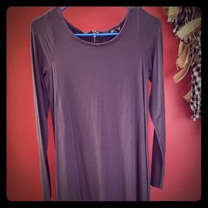 Express grey scoop neckline swing dress